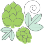 Image to show hops for brewing 101 page.